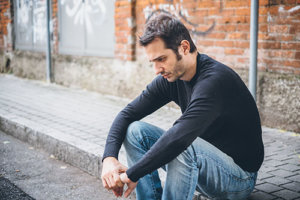 man in need of a social anxiety disorder treatment center